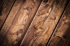 Modèle abstrait de gouttes de pluie sur le conseil en bois photos libres de droits