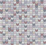 Modèle abstrait de knit Image libre de droits