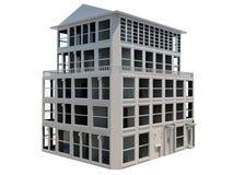 Modèle abstrait de la construction de cinq étages Photo stock