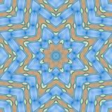 Modèle abstrait de mer, de ciel et de sable bleus illustration de vecteur