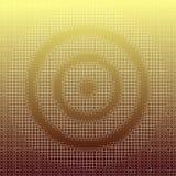 Modèle abstrait de panneau de dard sur le fond d'or de gradient, texture carrée minuscule blanche Dirigez l'illustration, EPS10 illustration de vecteur