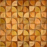 Modèle abstrait de panneautage - décor de mur intérieur - surface en bois Photos stock