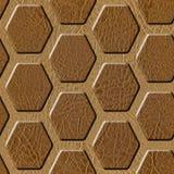 Modèle abstrait de panneautage - grille hexagonale décorative Photos stock