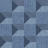 Modèle abstrait de panneautage - modèle sans couture, textile de blues-jean Photo stock