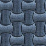 Modèle abstrait de panneautage - modèle sans couture, textile de blues-jean Images stock