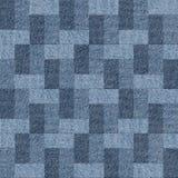 Modèle abstrait de panneautage - modèle sans couture, textile de blues-jean Photo libre de droits