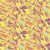 Modèle abstrait de yelow avec les courses tirées par la main illustration libre de droits