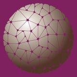 Modèle abstrait des éléments géométriques gris groupés en cercle Images stock