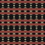 Modèle abstrait des rayures horizontales avec des formes géométriques Image libre de droits
