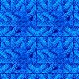 Modèle abstrait des tresses et des tresses tricotées image libre de droits