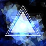 Modèle abstrait en cristal bleu Design d'entreprise Image stock