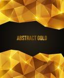 Modèle abstrait en cristal d'or Images stock