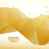 Modèle abstrait en cristal d'or Design d'entreprise Photo libre de droits