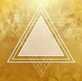 Modèle abstrait en cristal d'or Design d'entreprise Images stock