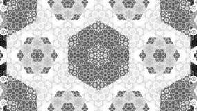 Modèle abstrait généré par ordinateur de fractale de kaléidoscope Photo stock