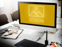 Modèle abstrait Graphic Concept d'inspiration de création photo stock