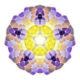 Modèle abstrait lumineux, mandala Photo stock