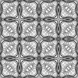 Modèle abstrait monochrome de vecteur Ornement de Deco illustration de vecteur