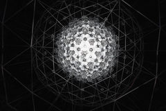 Modèle abstrait photographié dans Nick Moores Kaleidosphere. Images libres de droits