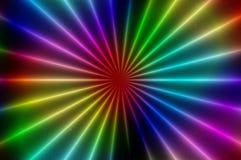 Modèle abstrait rougeoyant C. de radial. Image libre de droits