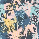 Modèle abstrait sans couture à la mode avec des textures tirées par la main Conception abstraite moderne pour le papier, le papie illustration stock