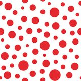 Modèle abstrait sans couture avec de grands cercles et points de couleur rouge Photos libres de droits