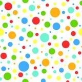 Modèle abstrait sans couture avec de petits et grands cercles lumineux avec le contour sur le fond blanc Photos libres de droits