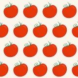 Modèle abstrait sans couture avec des tomates Photo stock