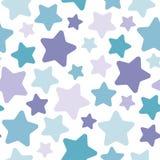 Modèle abstrait sans couture avec les étoiles mignonnes Images libres de droits