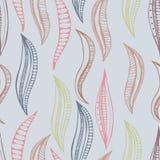 Modèle abstrait sans couture avec les vagues décorées Illustration Stock