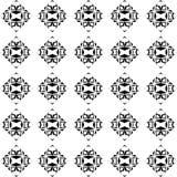 Modèle abstrait sans couture blanc noir de vecteur rétro image stock