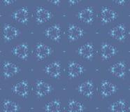 Modèle abstrait sans couture, cercles bleus de baie Images stock