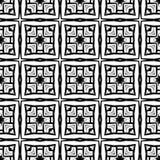 Modèle abstrait sans couture dans couleurs monochromes noires Photo stock