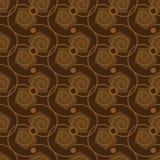 Modèle abstrait sans couture dans la couleur de café Illustration de Vecteur
