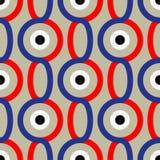 Modèle abstrait sans couture dans le style de Soviétique de constructivisme Ornement géométrique du vintage 20s de vecteur illustration de vecteur