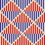 Modèle abstrait sans couture dans le style de Soviétique de constructivisme Ornement géométrique du vintage 20s de vecteur illustration libre de droits