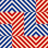 Modèle abstrait sans couture dans le style de Soviétique de constructivisme Ornement géométrique du vintage 20s de vecteur illustration stock