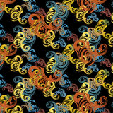Modèle abstrait sans couture de couleur d'eau de vecteur Images libres de droits