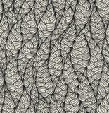 Modèle abstrait sans couture de vecteur avec le motif structurel tiré par la main Texture onduleuse linéaire sans fin Image stock