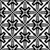 Modèle abstrait sans couture de vecteur noir et blanc Papier peint abstrait de fond image libre de droits