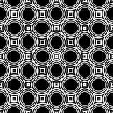 Modèle abstrait sans couture de vecteur noir et blanc Papier peint abstrait de fond illustration stock