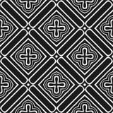 Modèle abstrait sans couture de vecteur noir et blanc Papier peint abstrait de fond images stock