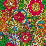 Modèle abstrait sans couture des fleurs, feuilles, usines Photos stock