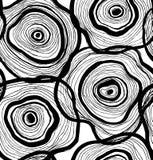 Modèle abstrait sans couture, texture artistique, fond dessiné avec des cercles, conception décorative de calibre de vecteur Photographie stock