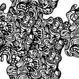 Modèle abstrait sur le fond blanc Image libre de droits