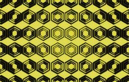 Modèle abstrait sur le fond jaune Photographie stock