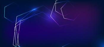 Modèle abstrait sur un fond bleu honeycombs Image libre de droits
