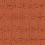 Modèle abstrait tordu de places Places noires sur le fond rouge Illustration pour votre conception Texture bruyante de briques Image stock