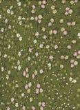 Modèle abstrait vert avec les fleurs minuscules photographie stock libre de droits