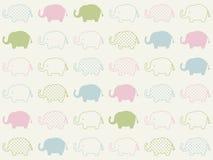 Modèle animal sans couture d'éléphant Illustration Stock